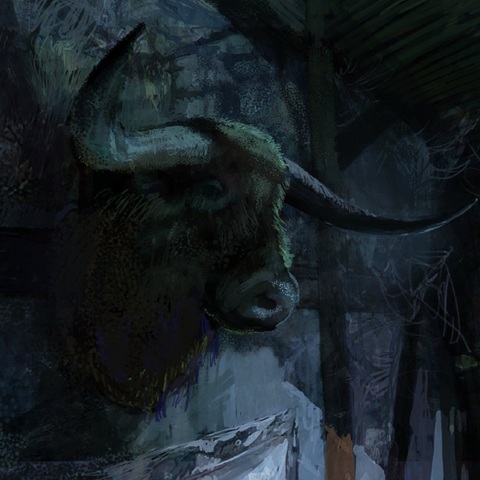 the Hairy Bear concept painting