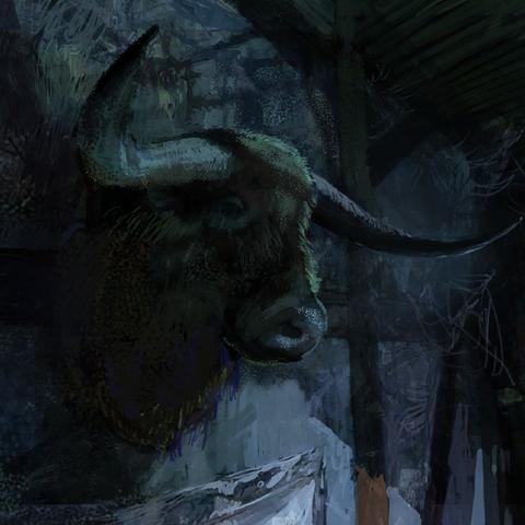 Locanda dell'Orso Peloso di notte - concept art