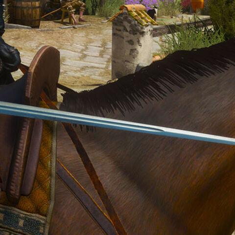 Geralt and the Striga.