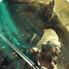 Gwent card art in <i>The Witcher 3</i> and Gwent standalone as <i>Ciri:Dash</i>