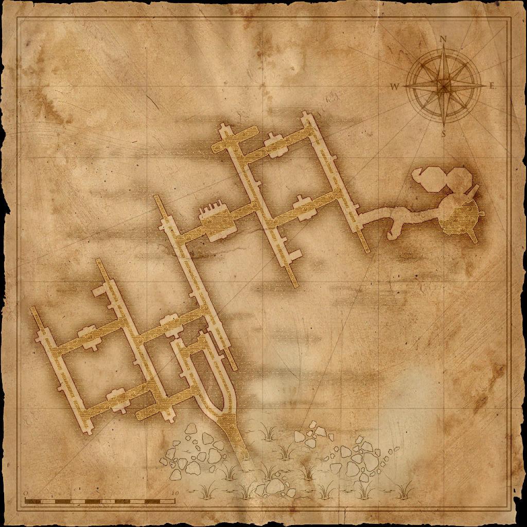 Map Vizima Sewers