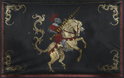 Baw horse knight banner
