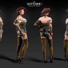 Render of The Witcher 2 prostitute