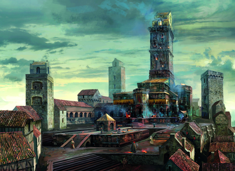 Tw3 concept art town