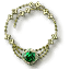 Tw3 green gold emerald necklace
