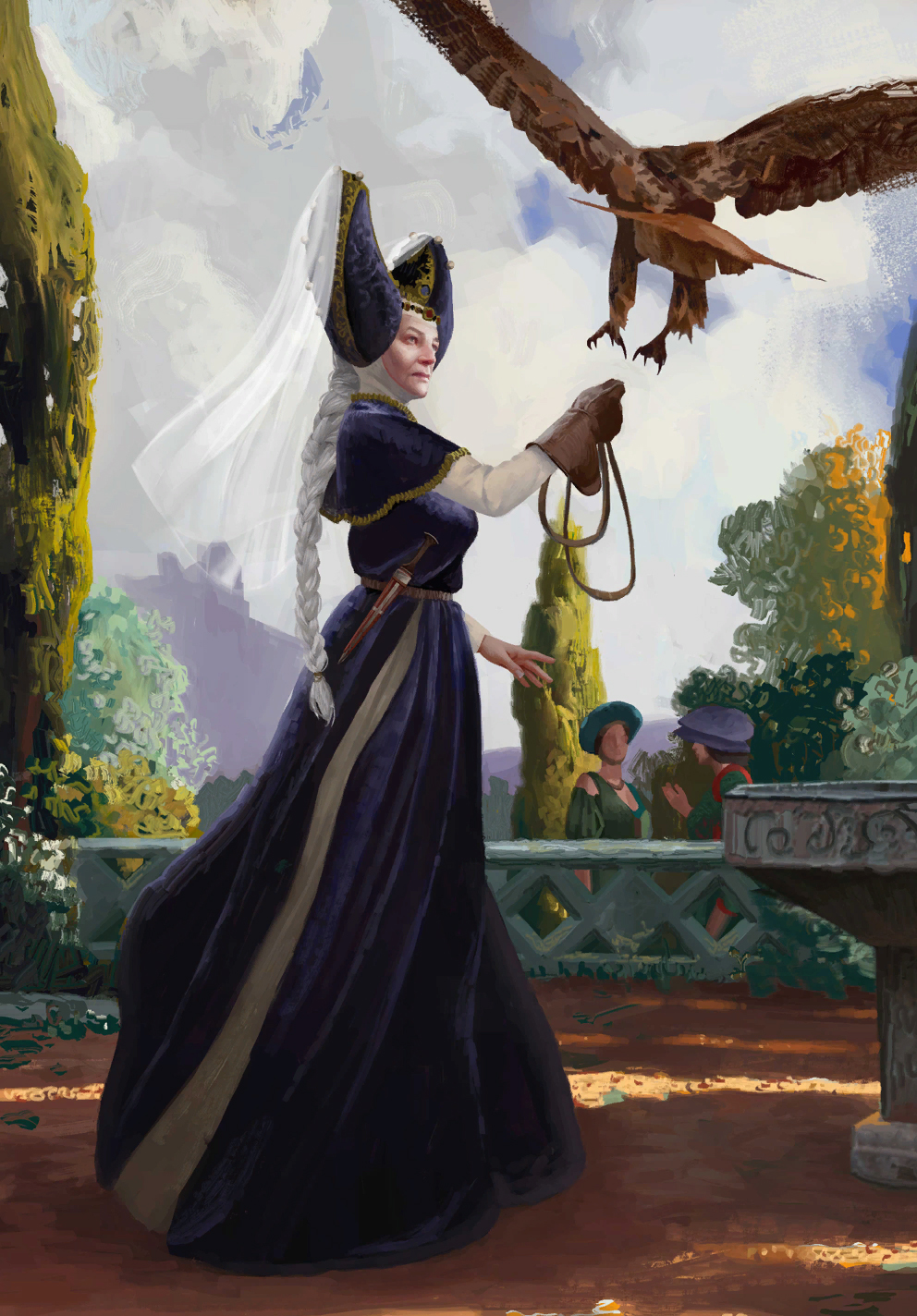 Gwent cardart northern queen calanthe
