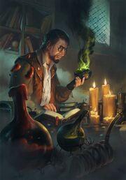 Gwent cardart nilfgaard alchemist