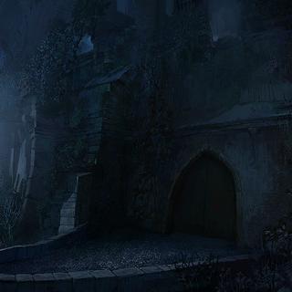 Cancello del Mugnaio di notte - concept art