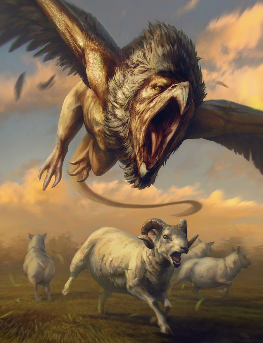 Gwent cardart monsters griffin