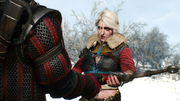 Ciri hands over her sword