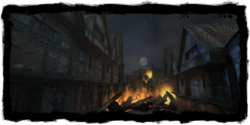 Places Vizima Temple Quarter Burning