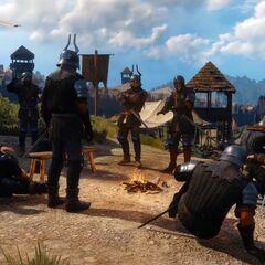 Nilfgaardian soldiers camped