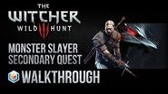 The Witcher 3 Wild Hunt Walkthrough Monster Slayer Secondary Quest Guide Gameplay Let's Play