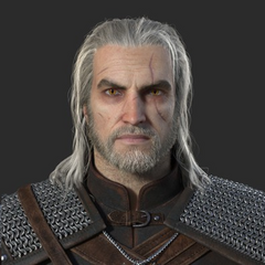 Geralt model used in the trailer