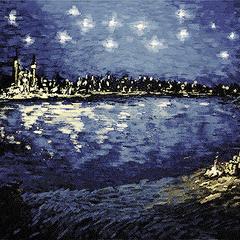 Зоряна ніч над Понтаром, картина