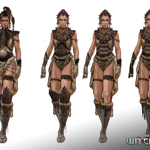Concept art of an unknown Zerrikanian character for <i>The Witcher 2</i>