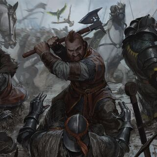 Munro, Zoltan and Figgis fighting at Brenna