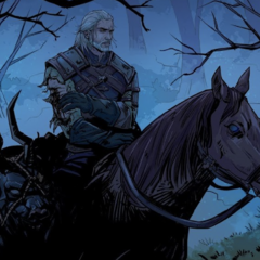 Geralt and Roach in <i><a href=