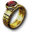 Tw3 gold ruby ring