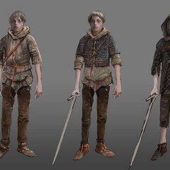 Concept art for child Ciri in <i>The Witcher 3</i>