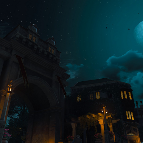 The Coopers' Gate during night.