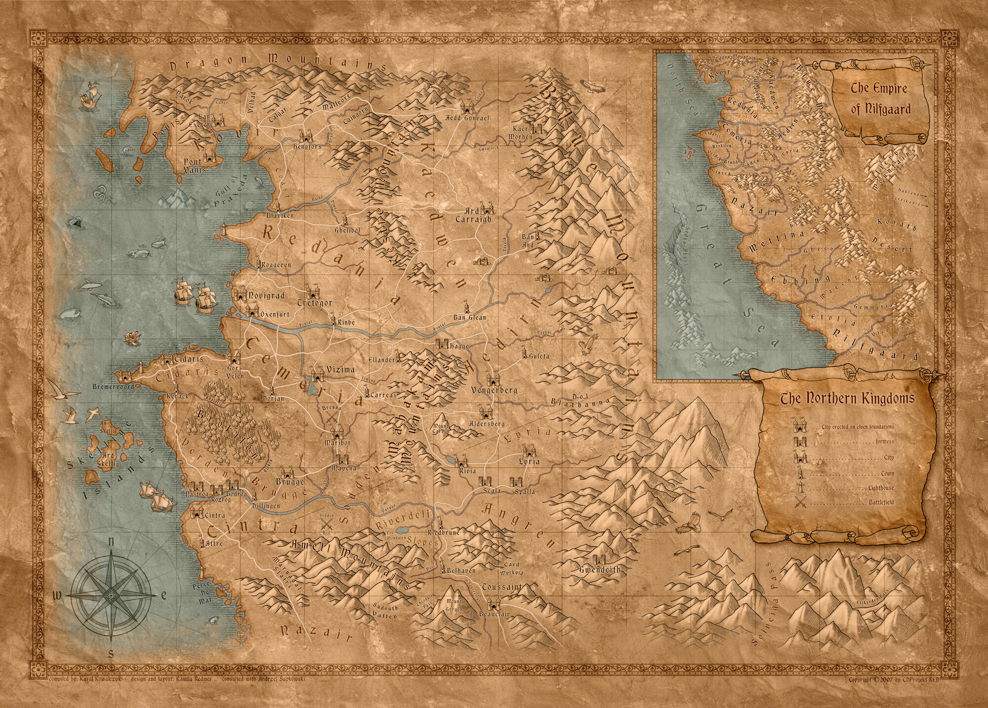 World map witcher wiki fandom powered by wikia gumiabroncs Choice Image