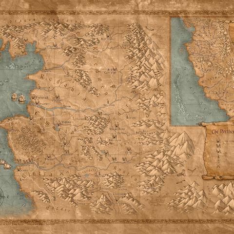 Детальна мапа Північних Королівств.