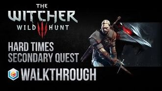 The Witcher 3 Wild Hunt Walkthrough Hard Times Secondary Quest Guide Gameplay Let's Play