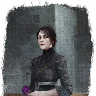 Painting of Iris with the purple rose