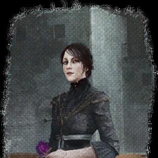 لوحة لآيريس بالزهرة البنفسجية