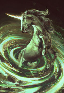 Gwent cardart neutral unicorn