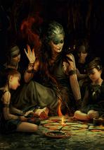 Gwent cardart skellige crow clan preacher