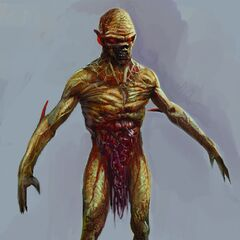 An early concept art of the ghoul