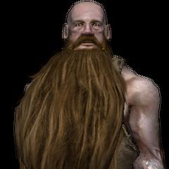 a dwarf blacksmith