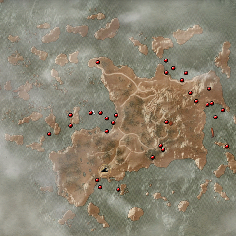 Chests locations on the island