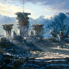 Concept art of his Temple from official artbook