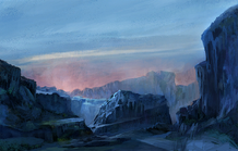 Loading Icy plains night