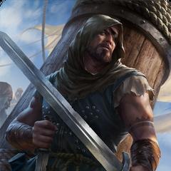 Gwent card art (Clan Dimun pirate)
