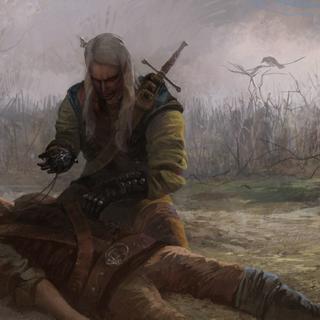 Wiedźmin zabija Berengara - przerywnik fabularny z aktu V