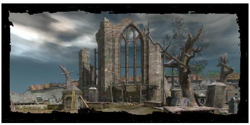 Rovina della chiesa nel Cemetero di Vizima