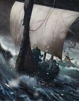 Gwent cardart skellige dimun light longship