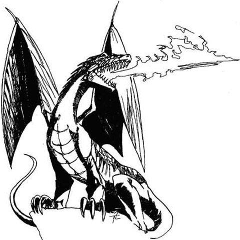Червоний дракон у Відьмак: Гра Уяви