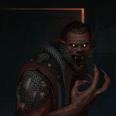 Werewolf form in Gwent standalone game