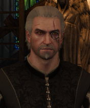 Tw3 silver monocle on geralt