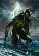 Gwent cardart monsters dagon