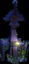 Eternal Fire Shrine lit