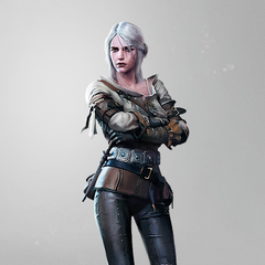 Adult Ciri finalized concept art