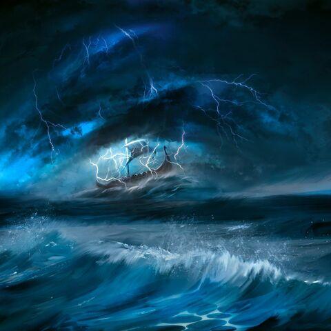 Алькіона під час шторму Вільгефорца, арт