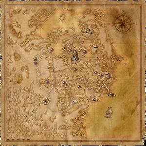 Map Swamp monoliths
