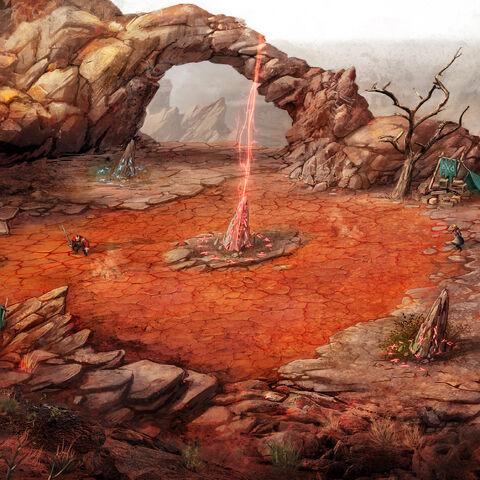 Концепт-арт пустелі Корат для гри «Відьмак: Бойова Арена»